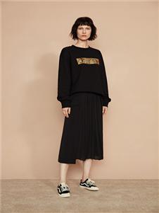 F/SHiNE方示新款黑色卫衣
