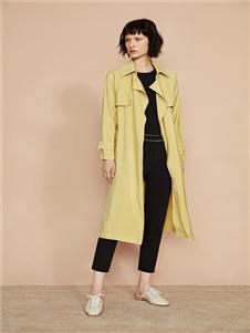 F/SHiNE方示新款黄色风衣