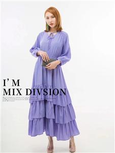 弗拉紫色连衣裙