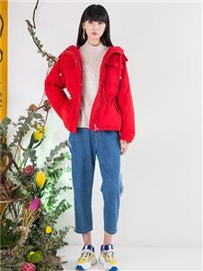 芙纯女装芙纯女装红色外套