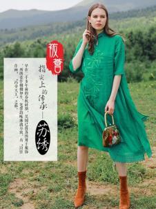 袯荟2019冬女装棉麻裙子