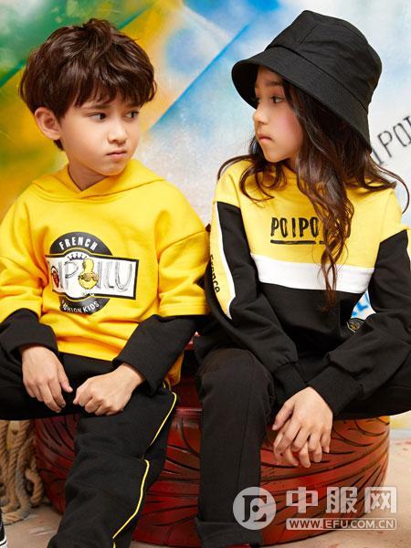 poipoilu(泡泡噜)童装时尚潮流字母印花卫衣