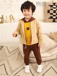 棉绘男童外套