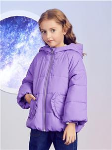安奈儿童装紫色羽绒衣