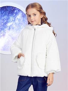 安奈儿童装白色羽绒衣