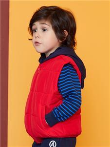 安奈儿童装红色马甲