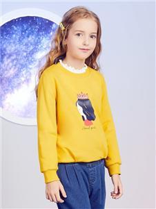安奈儿童装黄色毛衣