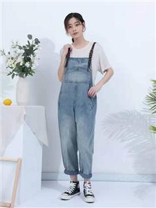 亦抒女装新款背带裤