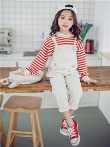 安米莉AMILRIS童装背带牛仔裤