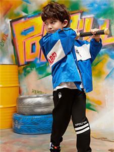 poipoilu(泡泡噜)童装时尚字母印花外套