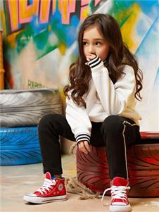 poipoilu(泡泡噜)童装时尚纯色纯棉卫衣