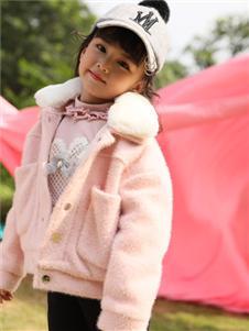 小猪宾果童装韩版加绒加厚外套