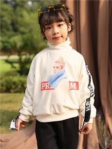 小猪宾果童装韩版宽松百搭圆领长袖T恤卫衣