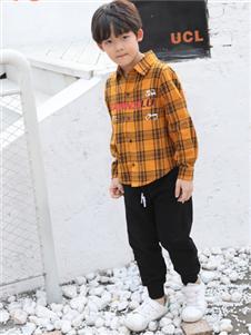 班吉鹿banjilu童装格子衬衫