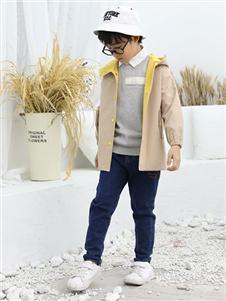 班吉鹿banjilu童装米色薄款外套