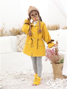 班吉鹿banjilu童装黄色大衣