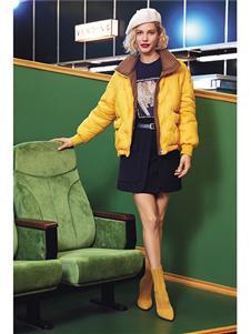 布卡慕尚新款黄色羽绒服