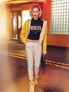 布卡慕尚女装新款黄色外套