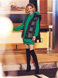 布卡慕尚女装新款羽绒马甲