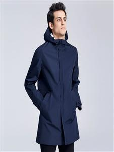 卡古男装藏青色外套