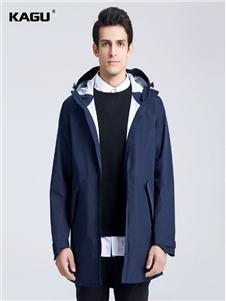 卡古男装蓝男色外套