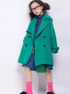 欧卡星童装冬季新款毛呢大衣