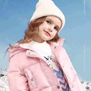 「安奈儿Annil粉系羽绒」丨雪地里开着一朵粉色小花