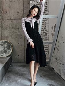 柯蘭諾黑色背心裙