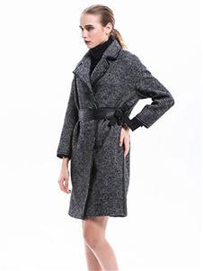 主章女装灰色大衣