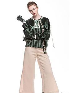 主章女装绿色外套
