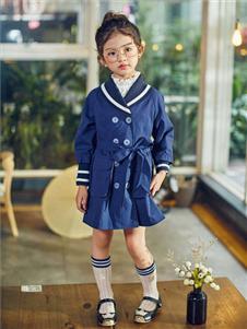 童品壹倉童裝新款藍色羽絨服