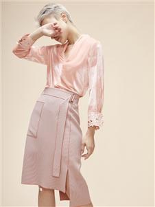 扣眼女装粉色半身裙