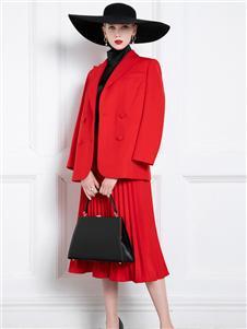 希区瑞普女装红色套装