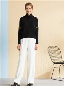 GTS天山羊绒新款黑色针织衫