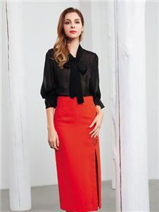 彌妖女裝紅色半身裙