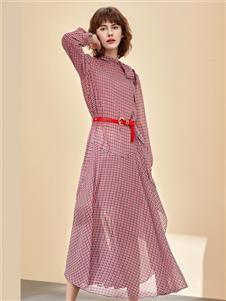朗蔻女装新款收腰女裙