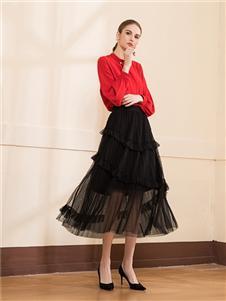 KzrKze女装黑色半身裙