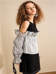 我本布衣女装皮杰连衣裙