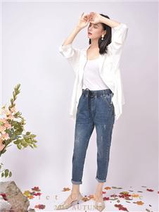都市方案女装白色外套