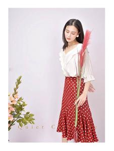 都市方案女装红色波点半身裙