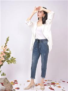 都市方案女装休闲牛仔长裤