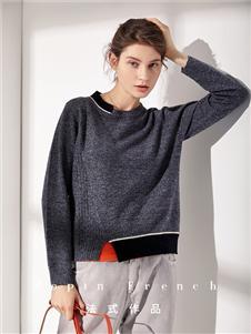 作品女装灰色打底针织衫