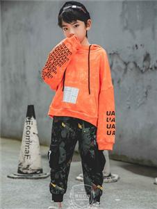 维尼叮当童装春款橙色上衣