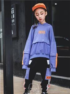 维尼叮当童装春款紫色套装