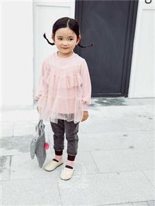 维尼叮当童装春款粉色上衣
