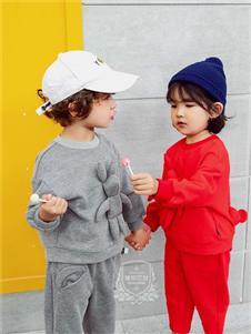维尼叮当童装维尼叮当童装春款灰色卫衣套装