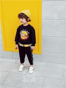 维尼叮当童装维尼叮当童装春款黑色套装