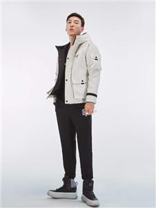 依立腾时尚白色棉衣