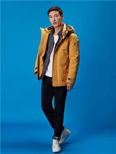 依立腾黄色加厚外套