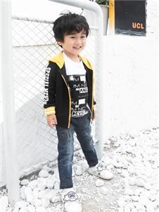 棉之子童装黑色外套
